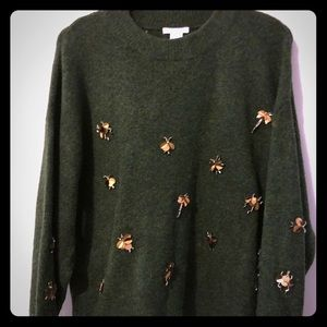 H&M sweater embellished S